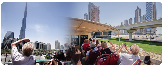 Hop On Hop Off Bus Tours, Dubai City Sightseeing group tour, dubai bus tour