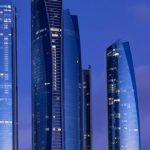 Jumeirah_Etihad Tower_abu_dhabi_populous_city_tip_from_Dubai